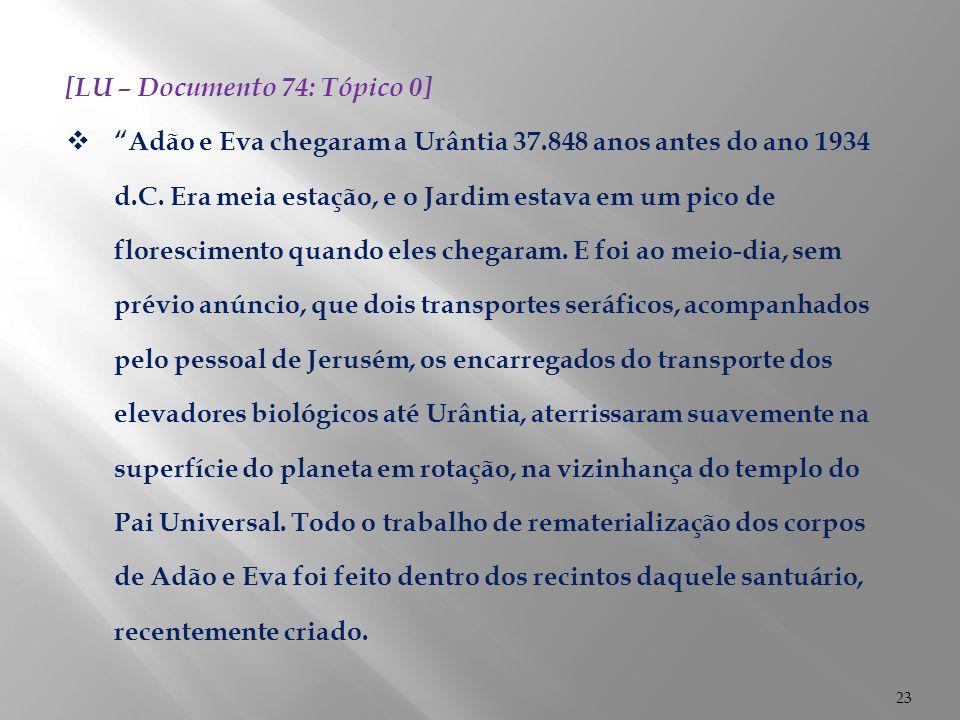 [LU – Documento 74: Tópico 0]